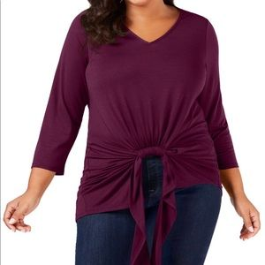 2x NY COLLECTION soft top 3/4 sleeve
